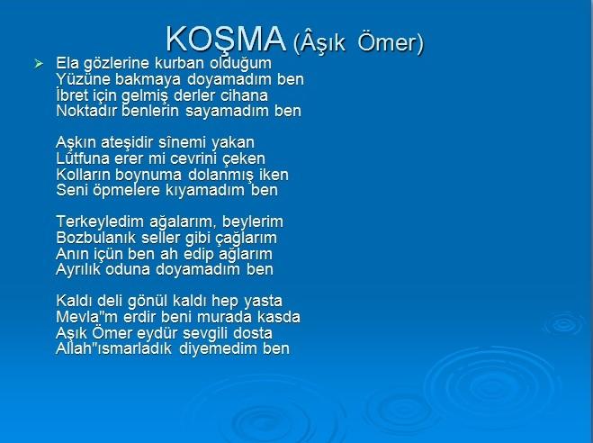 KOŞMA 1