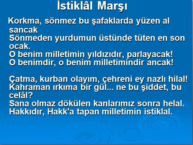 istiklal marsı 1